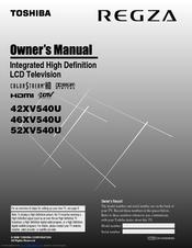Toshiba 46XV540U Owner's Manual