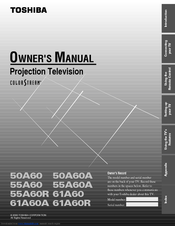 Toshiba 50A60 Owner's Manual