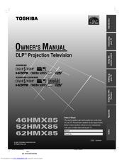 toshiba 52hmx85 owner s manual pdf download rh manualslib com Toshiba DLP TV Screen Repair Parts Toshiba 65HM167 DLP TV 65