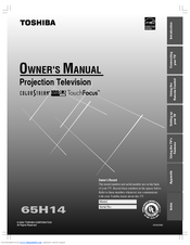 toshiba 65h14 owner s manual pdf download rh manualslib com Toshiba 65HM167 Problems 65HM167 Toshiba Seine Board