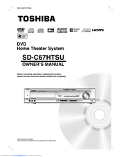 Toshiba SD-C67HT Owner's Manual