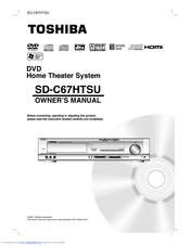 toshiba sd c67htsu owner s manual pdf download rh manualslib com Toshiba TV Owners Manual manual home theater semp toshiba xb 1536