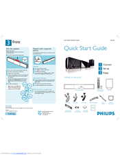 Philips Hts8100 12 Quick Start Manual 2 Pages Cineos Soundbar