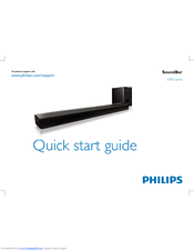Philips Css2123 F7 Quick Start Manual 16 Pages Soundbar