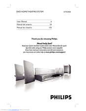 philips hts3450 manuals rh manualslib com Philips DVD Home Theater System Philips Home Theater System 1000 Watt