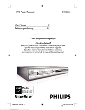 Philips DVDR3305/02 User Manual