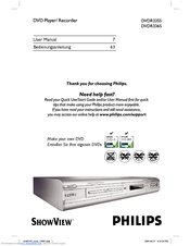 Philips DVDR3355/02B User Manual