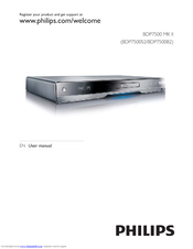 Philips BDP7500B2/12 Quick Start Manual