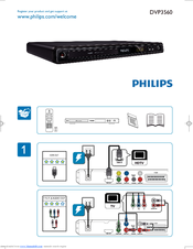 Philips DVP3560/12 Quick Start Manual