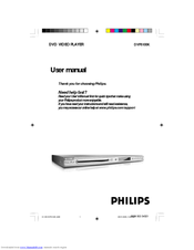 Philips DVP5100K/69 User Manual