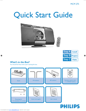 Philips MCM275/37 Quick Start Manual