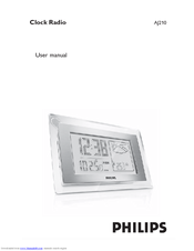 Philips AJ210 - AJ 210 Weather Clock Radio User Manual