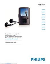philips sa3085 02 user manual pdf download rh manualslib com philips gogear 2gb mp3 player manual philips gogear raga 2gb mp3 player manual