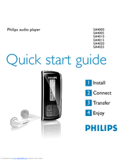 Philips SA4345/37 MP3 Player Drivers for Windows Mac