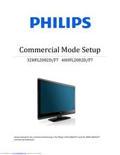 Philips 32HFL2082D/F7 Manuals