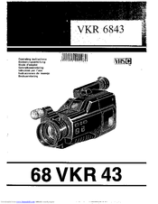 Philips 68 VKR 43 Operating Instructions Manual