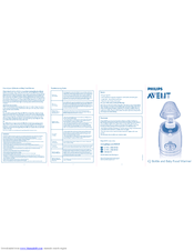 philips avent iq scf260 22 manuals rh manualslib com philips avent bottle warmer instructions philips avent bottle warmer instructions