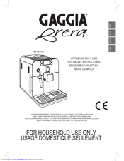 Gaggia 10003083 Operating Instructions Manual
