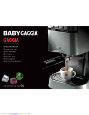 gaggia coffee user manual pdf