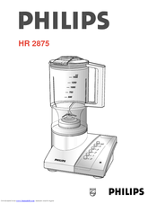Philips HR2875/00 User Manual