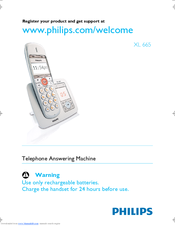 Philips XL6651C/22 User Manual