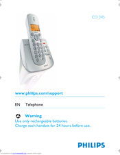philips cd 245 manuals rh manualslib com Philips Instruction Manuals Philips Schematics