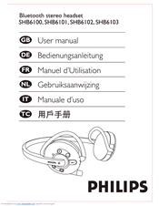 Philips SHB6102 User Manual
