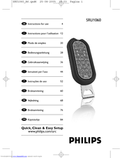 Philips SRU1060/10 Instructions For Use Manual