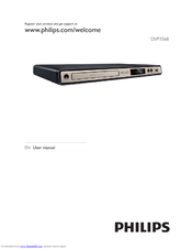 Philips DVP3568X/94 User Manual