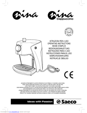 Saeco Nina Plus Cappuccino инструкция