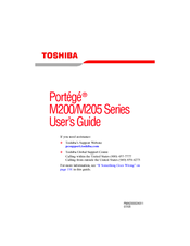 Toshiba M200/M205 User Manual