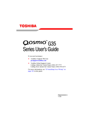 Toshiba Qosmio G35 User Manual