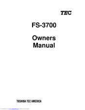 Toshiba FS-3700 Series Owner's Manual