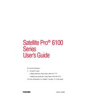 toshiba satellite pro 6100 series manuals rh manualslib com Toshiba Satellite Pro 6100 Specs Toshiba Satellite Pro 6100 Drivers
