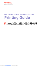 Toshiba 305 Printing Manual