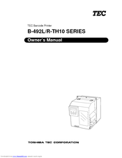 Toshiba TEC B-492R-TH10 Series Owner's Manual