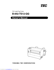 Toshiba B-850 Owner's Manual