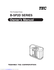 Toshiba TEC B-SP2D-GH20-QM Owner's Manual