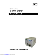 Toshiba TEC B-SX4T-QP Owner's Manual