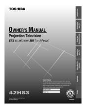 toshiba 42h83 manuals rh manualslib com Toshiba Projection TV Toshiba TheaterWide HD Problems