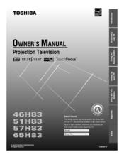 toshiba 57h83 manuals rh manualslib com Toshiba TV Service Manual 52HM95 Toshiba Manual TheaterWide