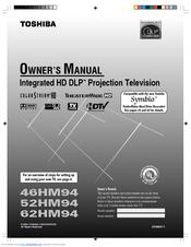 toshiba theaterwide 62hm94 manuals rh manualslib com Toshiba Projection TV 72 Toshiba DLP Projection TV