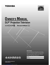 toshiba theaterwide 44hm85 manuals rh manualslib com toshiba dlp tv service manual toshiba 72 inch dlp tv manual