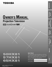 toshiba 57hx81 manuals rh manualslib com Toshiba LCD Manual Toshiba LCD Manual