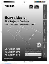 toshiba theaterwide 52hm84 owner s manual pdf download rh manualslib com Toshiba Rear Projection TV Photo 52 Toshiba 2006 Projection TV