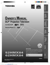 toshiba 62hmx84 cinema series hd manuals rh manualslib com 62 Toshiba TheaterWide HD Toshiba 62HM95 Optical Engine