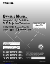 toshiba 62hm195 62 rear projection tv manuals rh manualslib com Toshiba 62 Inch DLP TV Cooling Fan for Toshiba 62HM95