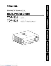 toshiba tdp s20 svga dlp projector manuals rh manualslib com