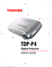 toshiba tdp p4 manuals rh manualslib com Toshiba Laptop User Manual Toshiba TV Manual