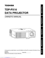 toshiba tdp px10 manuals rh manualslib com Toshiba Laptop User Manual toshiba tdp-p5 service manual